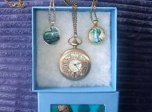 Alice in Wonderland watch & necklace plus Cheshire cat necklace Vermont Whitehorse Area Preview