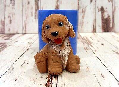 """""""Puppy 3"""" dog silicone mold for soap and candles making"""