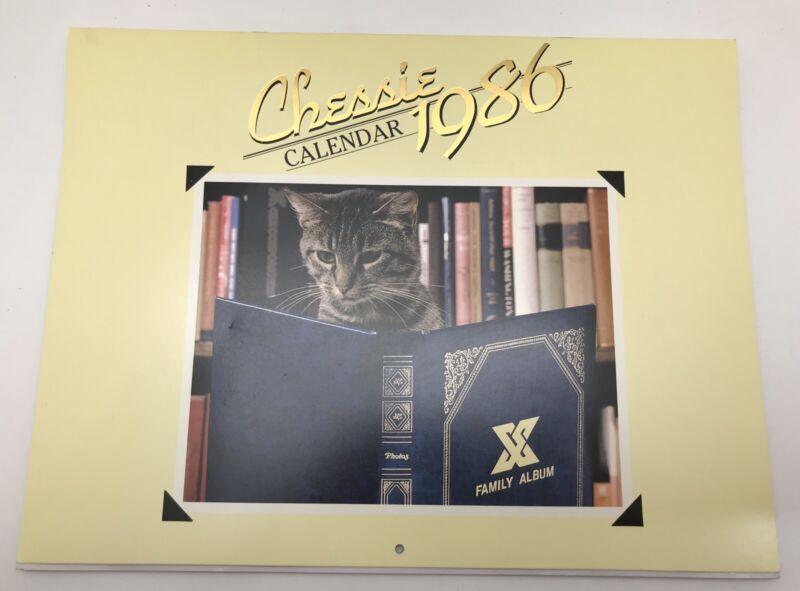 Vintage 1986 Chessie Cat Wall Calendar C&O Railroad Chesapeake & Ohio