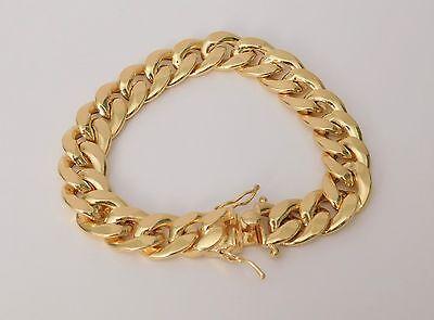 "10Kt Mens Yellow Gold Miami Cuban Link Bracelet 12mm 9"" inch 12 MM 27.85 Grams"