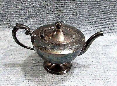 Victorian Queen Ann Canada 591 Georgian Vintage EP Silver Plate Teapot FREE S/H