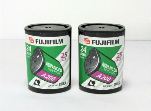 2 Fujifilm Advanced Photo System Nexia 200 Speed Film 24mm 25 Exposures Expired