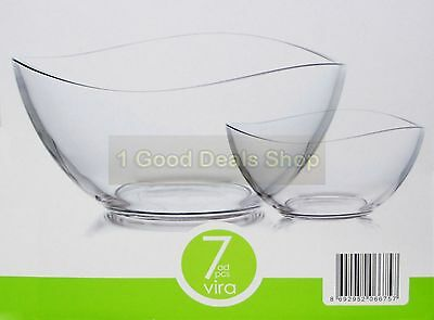 6 +1 pc Glass Bowls Set Dessert Dishes Ice Cream Sundae Fruit Trifle Gift  VIRA