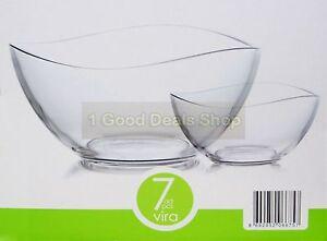 6 +1 pc Glass Bowls Set Dessert Dishes Ice Cream Sundae Fruit Trifle Gift  VIRA