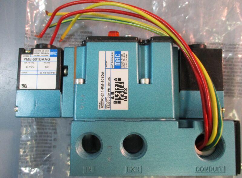 """New MAC Valve Solenoid 6223C-211-501DA 24VDC 3/8"""" Port"""