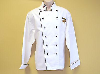 New Nfl Minnesota Vikings Premium Chef Coat 100 Cotton Xl Size Football Chief