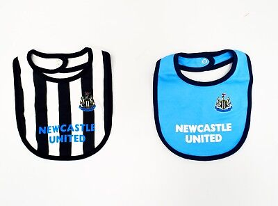 Newcastle United Official City Football Club 2pk Bib Babywear Gift Set NU702