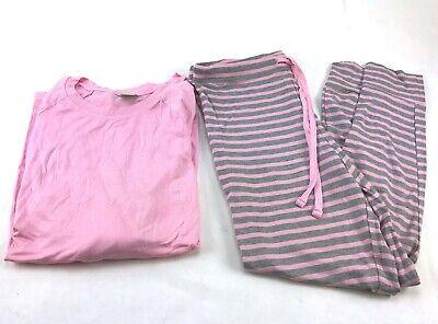 Honeydew 2 pc Pajama Set  Top/Jogger Size S Rose Stripe/Pink