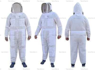 Pro Three Layers Mesh Ultra Beekeeping Suit Bee Suit Ventilated Cool Air X Large