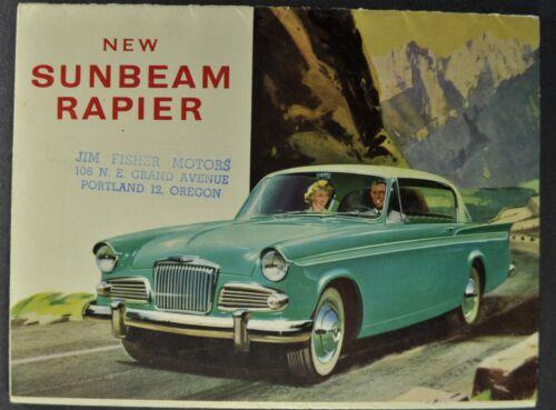 1958-1959 Sunbeam Rapier Brochure Folder Convertible Hardtop Excellent Original