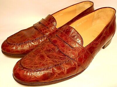 Polo Ralph Lauren Alligator Moccasin-Sewn Penny Loafer Mens Shoes - Size 12 B