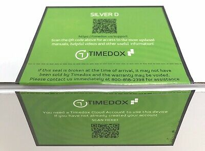 Timedox Silver D Biometric Fingerprint Time Clock For Employees