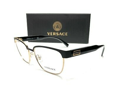 Versace VE1264 1436 Matte Black Demo Lens Men's Pillow Eyeglasses Frame 54-18