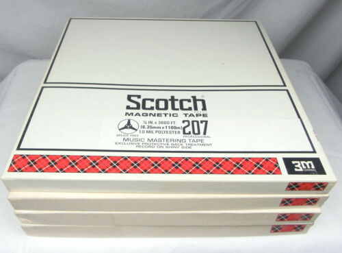 Scotch 207 Reels with Tape and Boxes, 1/4 x 10.5, Set of 4 - Used, Free Shipping