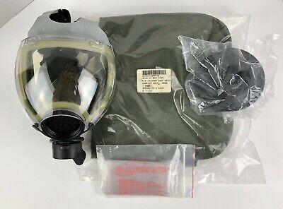 Scott Gray Millennium 40mm Respirator Gas Mask M Bag Filter Clear Outsert Nos