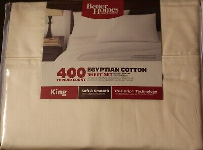 Better Homes & Gardens 400 Thread Count 4-PC KING SHEET SET 100% EGYPTIAN