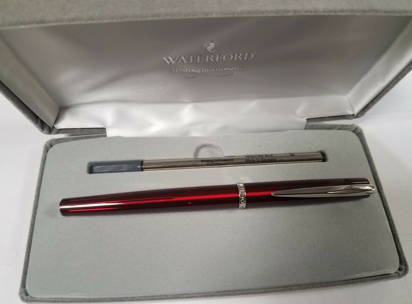 Waterford Marquis Claria Rhodium Rollerball Pen New In Box