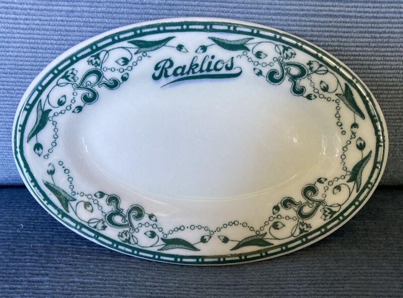 "Vintage Raklios Chicago Restaurant (Mobster?) 1930's Serving Dish-6 1/4"" (Rare?)"