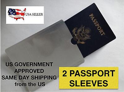 RFID Blocking Passport Sleeve Passport Holder 2 SLEEVES