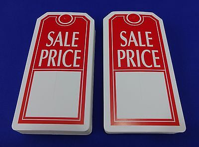 Qty. 100 Sale Price Tags With Slit Merchandise Price Tags Red White