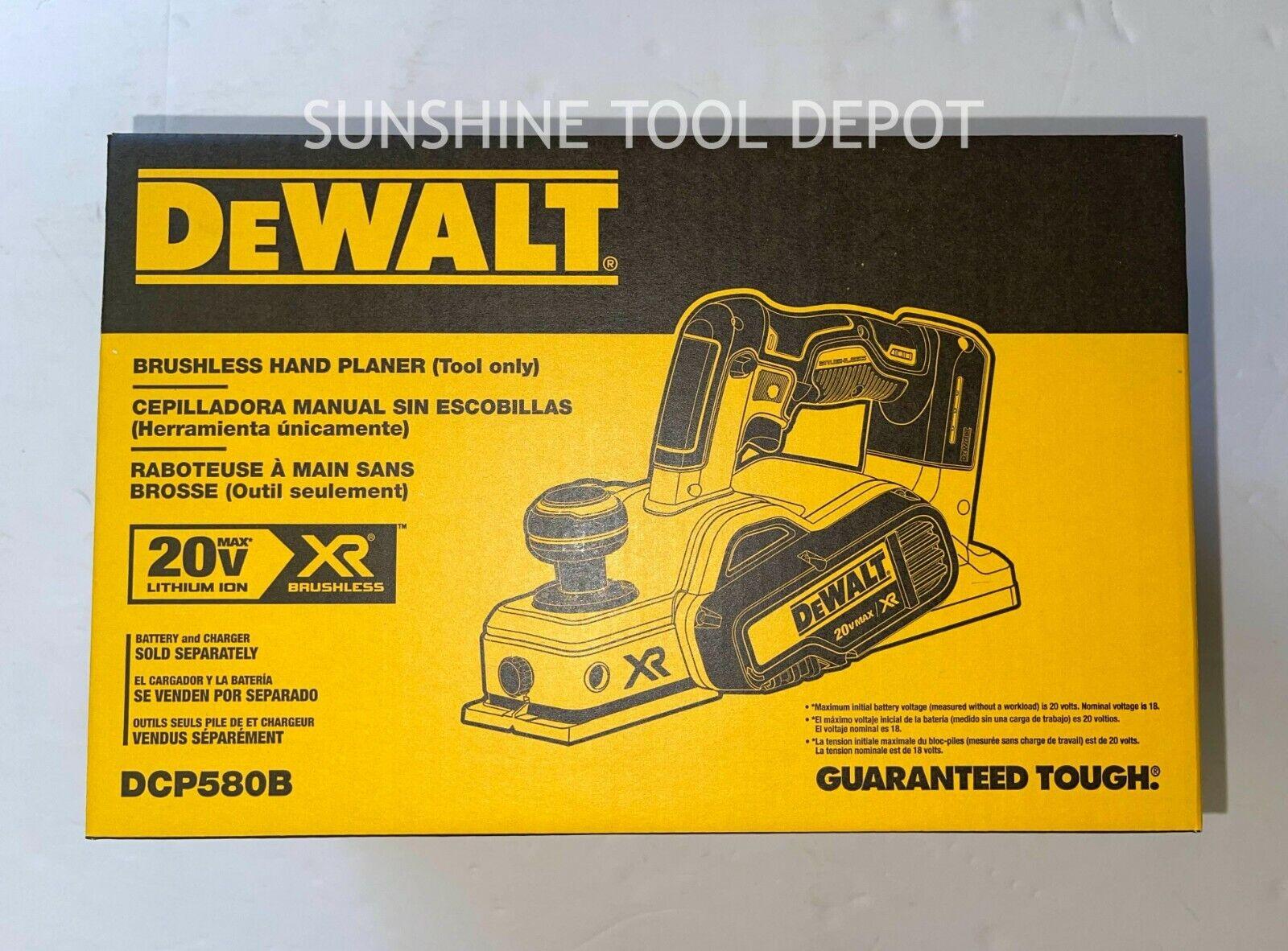 NEW Dewalt DCP580B 20 volt XR Cordless Brushless 3 1/4 Planer TOOL 5/64 Cutting