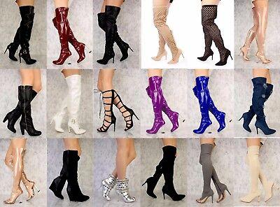 Wholesale Lot 30 Women Mixed Boots Booties Thigh High Platform Stilletos Shoes