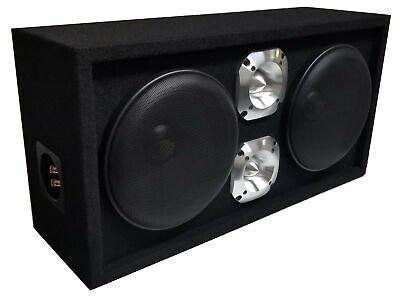 """Loaded 1200W Speaker Box 8"""" Midrange Speakers & 1.5"""" Bullet Tweeters with Grills"""