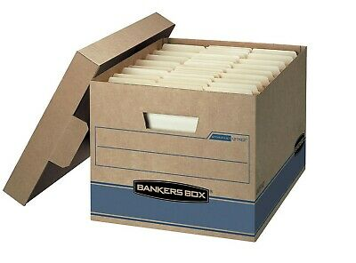 Bankers Box Heavy Duty Storage Boxes, 10 X 12 X 15 (10 Pack)