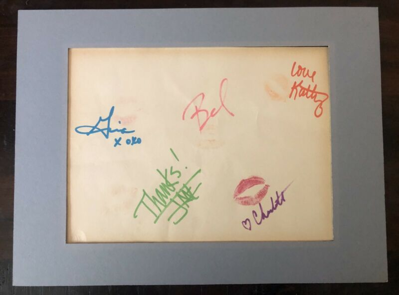 The Go-Gos 1984 Prime Time Tour Band Autographs Kisses Rare