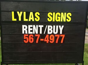 Mobile sign rent/purchase
