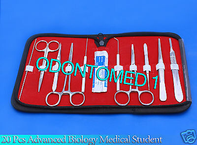 20 Pcs Advanced Biology Lab Anatomy Medical Student Dissecting Dissection Kit