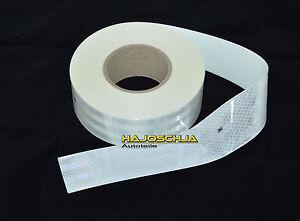Reflektorfolie 3M Konturmarkierung weiss 55 mm breit Reflektor selbstklebend