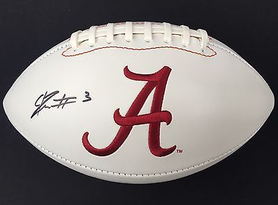 CALVIN RIDLEY #3 SIGNED ALABAMA CRIMSON TIDE LOGO FOOTBALL w/COA