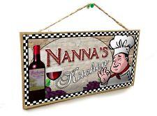 "Grandma/'s Kitchen Italian Vintage Style Wine Cellar 5/"" x 10/"" SIGN Wall Plaque"