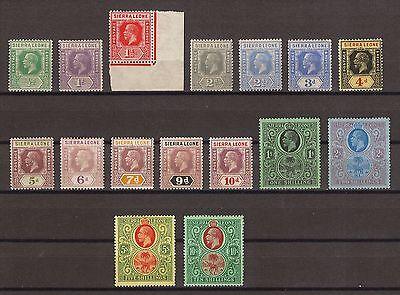 SIERRA LEONE 1921-27 SG 131/46 MINT Cat £225