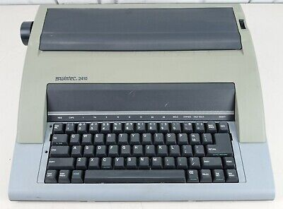 Swintec 2410 Ax-150 Portable Electric Typewriter - Tested Working