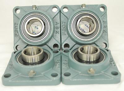 4 Stück UCF207 Flanschlagergehäuse UCF 207 Flanschlager 4-Loch 35 mm Welle