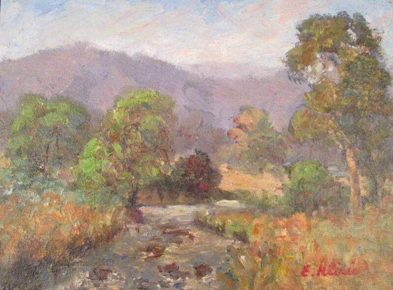 Original+Oil+Painting+Australian+Impressionist+Artist+Enoch+Hlisic+RIVER