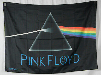 Authentic PINK FLOYD Dark Side Of The Moon Silk-Like Fabric Poster Flag (Pink Floyd Flag)