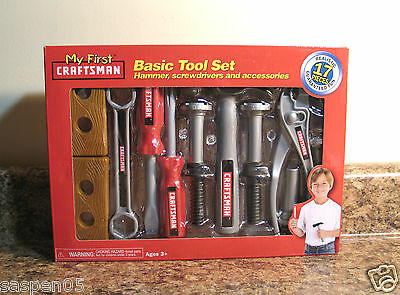 My First Craftsman Basic Tool Set 17 Pieces