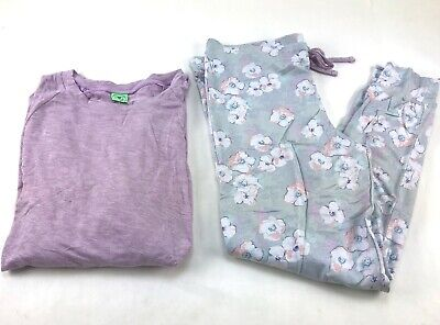 Honeydew 2 pc Pajama Set  Top/Jogger Size XL Flint Floral/Pink
