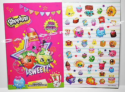 SHOPKINS STICKER BOOK 200 +STICKERS PARTY FAVORS F CANDY BAG GIFTS STOCKING STUF