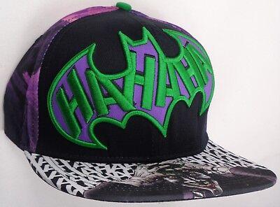 Hat Cap Licensed DC Comics Joker HA HA Sublimation Purple Batman CC](Joker Hat Batman)