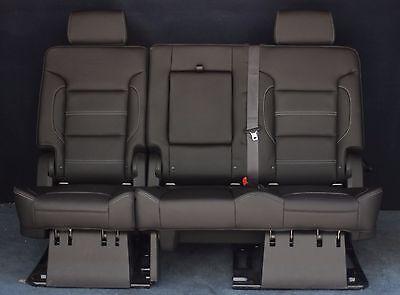 Denali 2nd Row Bench Seats - 2019 2018 2017 Yukon XL Denali 2nd Row Split Bench Seat in Black Leather