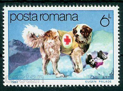 1982 RED CROSS,SAINT BERNARD RESCUE DOG,DOGS-FRIENDS AND HELP,HUNDE,ROMANIA,MNH