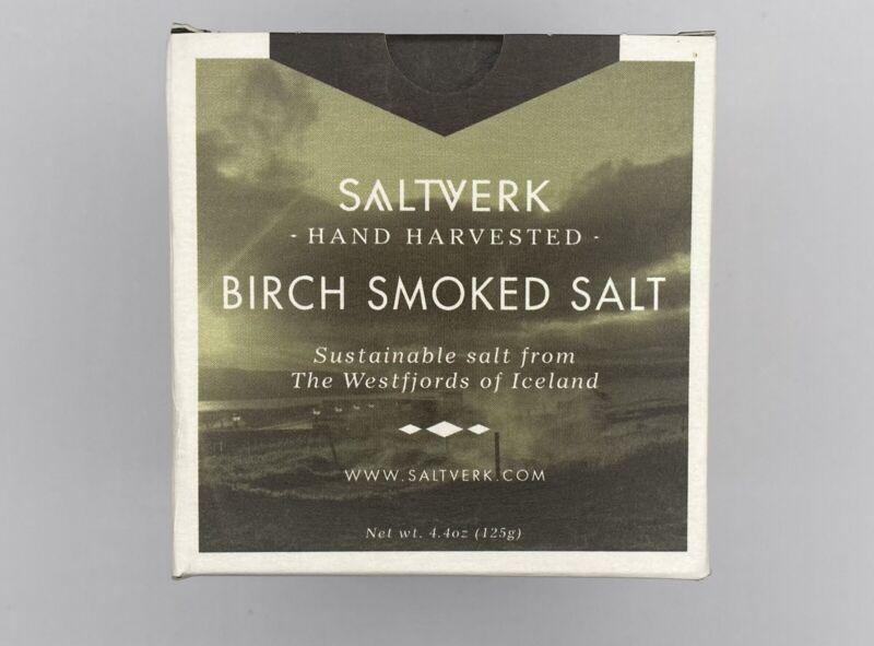 saltverk birch smoked salt Handcrafted In iceland, Sustainable Salt 4.4 Oz