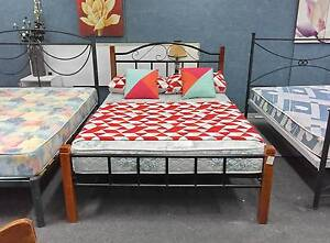 TODAY DELIVERY MODERN Double bed & COMFORT SLEEPMAKER mattress Belmont Belmont Area Preview