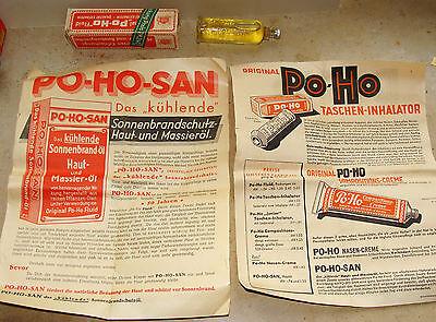 """"""" PO-HO"""" Fluid für Taschen – Inhalator ca. 1900-1930 Werbung"""