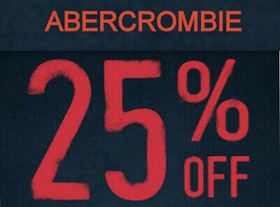 25% OFF $75 or more Abercrombie coupon code exp 3/3/2020