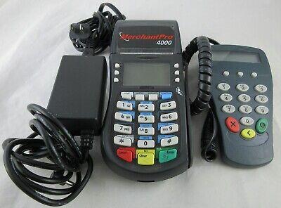 Hypercom Optimum T4210 Credit Card Terminal W Power Supply P1300 Pinpad